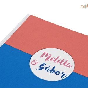 Esküvői fotóalbum - fehér, barack és kék (noteshell) - Meska.hu