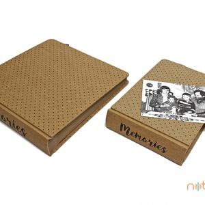 Eco kis fotóalbum - apró pöttyös (noteshell) - Meska.hu