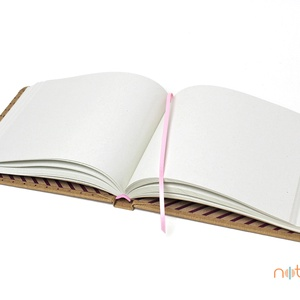 Eco L sima lapos notesz - apró pöttyös és rózsaszín csíkos (noteshell) - Meska.hu