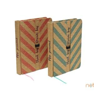 Eco M pontozott notesz - rózsaszín halszálka mintás (noteshell) - Meska.hu