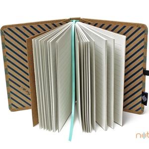 Eco M vonalas notesz - kék csíkos (noteshell) - Meska.hu