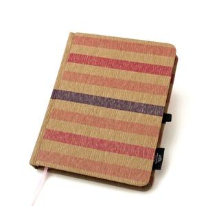 Eco M sima lapos notesz - pink és lila színes csíkos (noteshell) - Meska.hu