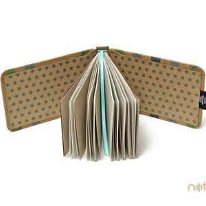 Eco XS sima lapos notesz - kék és zöld színes csíkos (noteshell) - Meska.hu