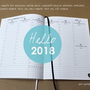 XL-es HETI beosztású határidőnapló belső 2018 (noteshell) - Meska.hu