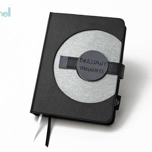 M-es határidőnapló/notesz - fekete-ezüst (noteshell) - Meska.hu