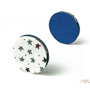 KORONG-kék-csillagos (noteshell) - Meska.hu