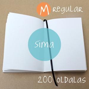 M-es SIMA noteszBELSŐ, Otthon & Lakás, Jegyzetfüzet & Napló, Papír írószer, * 10x14 cm-es (M-es méretű) sima lapos BELSŐ  * 100% újrahasznosított papírból készült.  * 200 oldal..., Meska