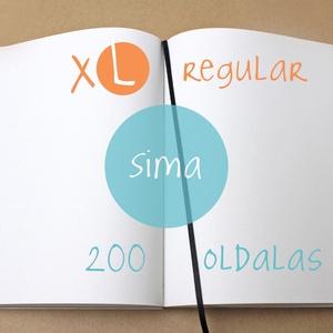 XL-es SIMA noteszBELSŐ, Otthon & Lakás, Jegyzetfüzet & Napló, Papír írószer, * 14x20 cm-es (XL-es méretű) sima lapos BELSŐ  * 200 OLDALAS! (regular)  * 100% újrahasznosított pap..., Meska