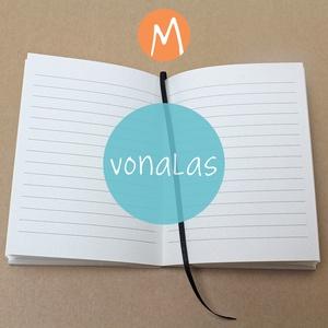 M-es VONALAS noteszBELSŐ, Otthon & Lakás, Jegyzetfüzet & Napló, Papír írószer, * 10x14 cm-es (M-es méretű) vonalas BELSŐ  * 100% újrahasznosított papírból készült.  * 200 oldalas ..., Meska