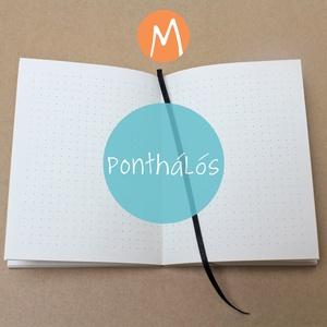 M-es PONTHÁLÓS noteszBELSŐ, Jegyzetfüzet & Napló, Papír írószer, Otthon & Lakás, Könyvkötés, * 10x14 cm-es (M-es méretű) ponthálós BELSŐ\n\n* 100% újrahasznosított papírból készült.\n\n* 200 oldala..., Meska