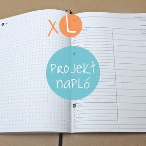 XL-es PROJEKT napló BELSŐ, Otthon & Lakás, Naptár & Tervező, Papír írószer, * 14x20 cm-es (XL-es méretű) PROJEKT napló BELSŐ!  * 100% újrahasznosított papírból készült.  * 200 ..., Meska