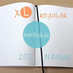 XL-es PONTHÁLÓS noteszBELSŐ, Otthon & Lakás, Jegyzetfüzet & Napló, Papír írószer, * 14x20 cm-es (XL-es méretű) ponthálós BELSŐ  * 200 OLDALAS! (regular)  * 100% újrahasznosított papí..., Meska