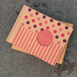 Eco nagy fotóalbum-pink és lila színes pöttyös és csíkos, Otthon & Lakás, Album & Fotóalbum, Papír írószer, Noteshell ECO fotóalbum - 100 % újrahasznosított papírból készült Vidám, pink, lila színes pöttyös é..., Meska