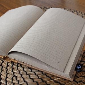 ECO vonalas notesz, számozott oldalakkal, mono szürke csíkos-környezetbarát, újrahasznosított papírból (noteshell) - Meska.hu