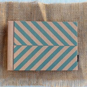 Eco kis fotóalbum védőtokkal - kék halszálka mintás (noteshell) - Meska.hu
