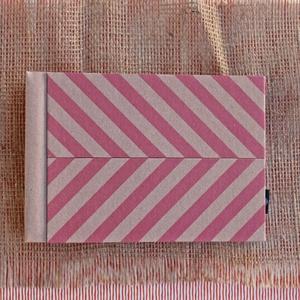 Eco kis fotóalbum védőtokkal - rózsaszín halszálka mintás (noteshell) - Meska.hu