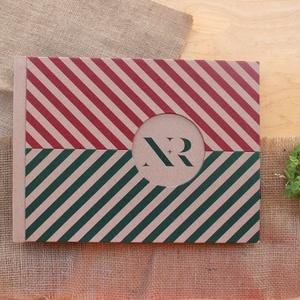 Eco nagy esküvői fotóalbum-halszálka mintás, Otthon & Lakás, Album & Fotóalbum, Papír írószer, Noteshell ECO fotóalbum - 100 % újrahasznosított papírból készült ESKÜVŐI fotóalbum (DUO eco kollekc..., Meska
