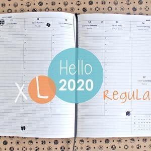 XL-es HETI beosztású határidőnapló belső 2020, Otthon & lakás, Naptár, képeslap, album, Naptár, Könyvkötés, 2020-as HATÁRIDŐNAPLÓ belív cserélhető belsejű Noteshell határidőnaplóba\n\n- mérete: XL  (borító mére..., Meska