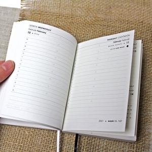 M-es NAPI beosztású határidőnapló belső 2021, Otthon & Lakás, Papír írószer, Naptár & Tervező, 2021-es HATÁRIDŐNAPLÓ belív cserélhető belsejű Noteshell határidőnaplóba  - mérete: M  (borító méret..., Meska