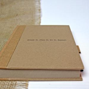 ECO vonalas notesz, számozott oldalakkal, feliratos-környezetbarát, újrahasznosított papírból, Otthon & Lakás, Papír írószer, Jegyzetfüzet & Napló, Újrahasznosított papírból készült környezetbarát notesz / napló - Noteshell ECO kollekció  -mérete:..., Meska
