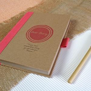 ECO ponthálós notesz, számozott oldalakkal, korall feliratos-környezetbarát, újrahasznosított papírból, Otthon & Lakás, Papír írószer, Jegyzetfüzet & Napló, Újrahasznosított papírból készült környezetbarát notesz / napló - Noteshell ECO kollekció  -mérete:..., Meska
