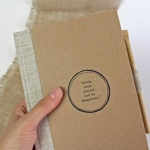ECO ponthálós notesz, számozott oldalakkal, feliratos-pöttyös-környezetbarát, újrahasznosított papírból, Otthon & Lakás, Papír írószer, Jegyzetfüzet & Napló, Újrahasznosított papírból készült környezetbarát notesz / napló - Noteshell ECO kollekció  -mérete:..., Meska