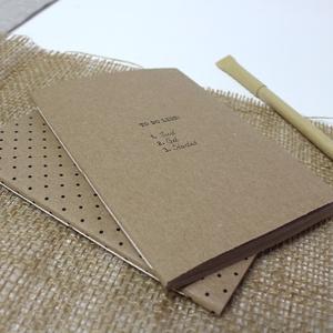 ECO kis ponthálós füzet - páros csomag - apró pöttyös - \'to do list\' feliratos - újrahasznosított papírból, Otthon & Lakás, Papír írószer, Jegyzetfüzet & Napló, Könyvkötés, Újrahasznosított alapanyagból készült termékek, Újrahasznosított papírból készült ponthálós füzet - Páros csomag\nNoteshell ECO kollekció\n\n- 2 db füz..., Meska