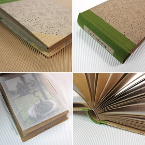 S-es, olívazöld-fekete virágmintás hagyományos fotóalbum, környezetbarát anyagokból - Meska.hu