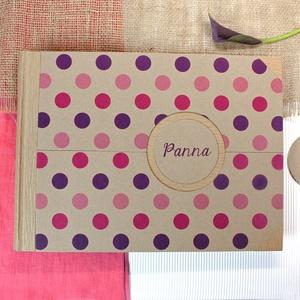 L pink-lila nagypöttyös fotóalbum - Meska.hu