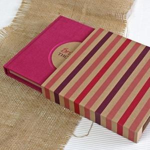 ECO fukszia lenvászon napló, védőtokkal, Otthon & Lakás, Papír írószer, Jegyzetfüzet & Napló, Könyvkötés, Újrahasznosított alapanyagból készült termékek, Meska