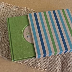 ECO zöld lenvászon napló, védőtokkal, Otthon & Lakás, Papír írószer, Jegyzetfüzet & Napló, Könyvkötés, Újrahasznosított alapanyagból készült termékek, Meska