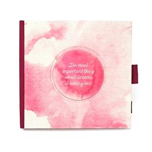 Akvarell - fukszia len napló, védőtokkal, Otthon & Lakás, Papír írószer, Jegyzetfüzet & Napló, Könyvkötés, Újrahasznosított alapanyagból készült termékek, Meska