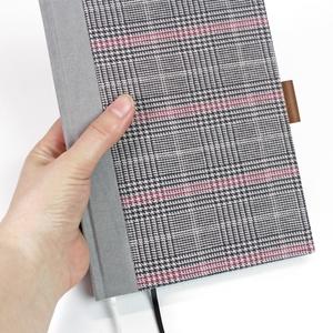 A/5  szürke tweed vonalas notesz, Otthon & Lakás, Papír írószer, Jegyzetfüzet & Napló, Könyvkötés, Újrahasznosított alapanyagból készült termékek, Meska