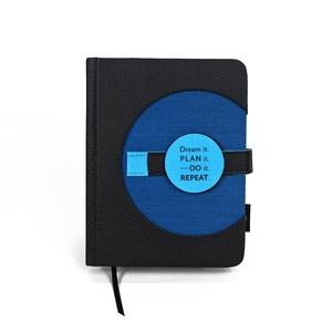 A/6 (régi M) 200, KORONGOS + határidőnapló/notesz cserélhető belívvel - fekete - kék, Otthon & Lakás, Papír írószer, Naptár & Tervező, Könyvkötés, Meska