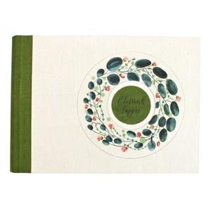 L zöld-korall akvarell mintás fotóalbum, Otthon & Lakás, Papír írószer, Album & Fotóalbum, Könyvkötés, Meska
