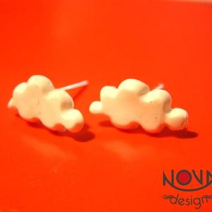 Felhő fülbevaló - POLYMER CLAY (novadesignshop) - Meska.hu