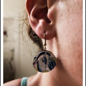Frida Kahlo aszimmetrikus fülbevaló - MŰVÉSZET (novadesignshop) - Meska.hu