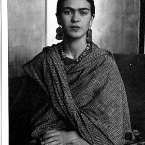 Frida Kahlo aszimmetrikus fülbevaló (novadesignshop) - Meska.hu