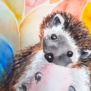 Süni levéltakaróban - akvarell festmény (eredeti) (novannart) - Meska.hu