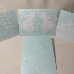 Karácsonyi képeslap csomag, Művészet, Más művészeti ág, Papírművészet, Karácsony közeledtével egy képeslap válogatást készítettem. Ki nem örülne egy kedves lapnak postalád..., Meska