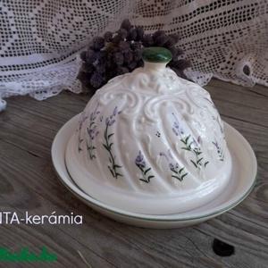 Levendulás-egyedi kerámia sajt vagy vajtartó (ntakeramia) - Meska.hu