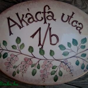 Kerámia Egyedi utcanévtábla -házszámtábla szeder virágzás (ntakeramia) - Meska.hu