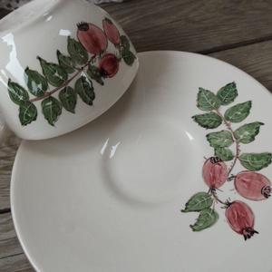 Csipkebogyós teás kerámia csésze - otthon & lakás - konyhafelszerelés - bögre & csésze - Meska.hu