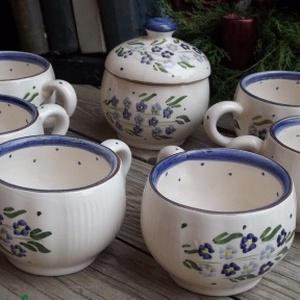 Kék nefelejcs nosztalgia pocakos 6 személyes kávés (ntakeramia) - Meska.hu