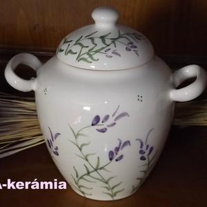 Levendulás  fokhagyma -méz fakanál kerámia tartó (ntakeramia) - Meska.hu