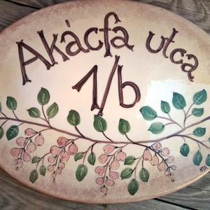 Kerámia Egyedi utcanévtábla -házszámtábla (ntakeramia) - Meska.hu