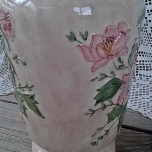 Vadrózsás egyedi-vintage váza (ntakeramia) - Meska.hu