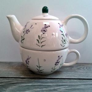 Egy tea veled-levendulásan Egyszemélyes teás (ntakeramia) - Meska.hu