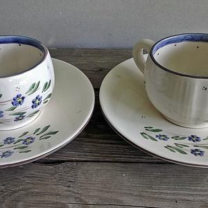 Kék nefelejcs pocakos kávés csésze , Otthon & lakás, Konyhafelszerelés, Bögre, csésze, Romantikus kávézáshoz készítettem ezt a kék nefelejcses pocakos  kávés készletet. Szerelmeddel ,bará..., Meska