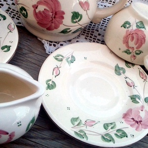 Rózsás romantikus kávés - otthon & lakás - konyhafelszerelés - bögre & csésze - Meska.hu